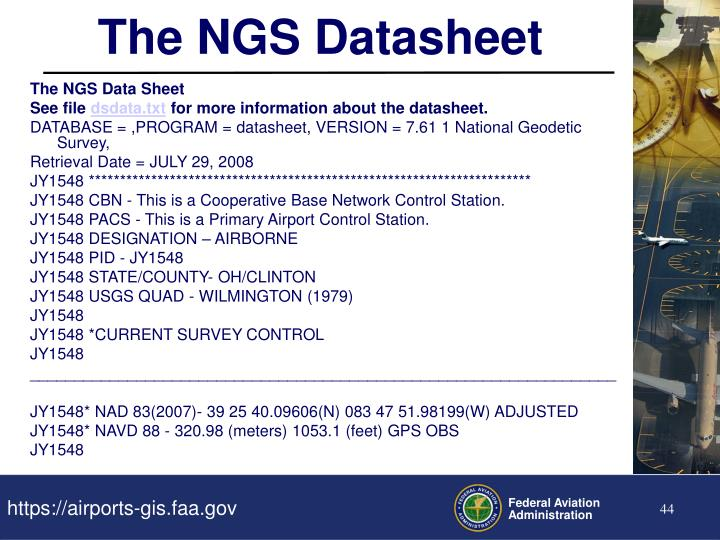 The NGS Datasheet