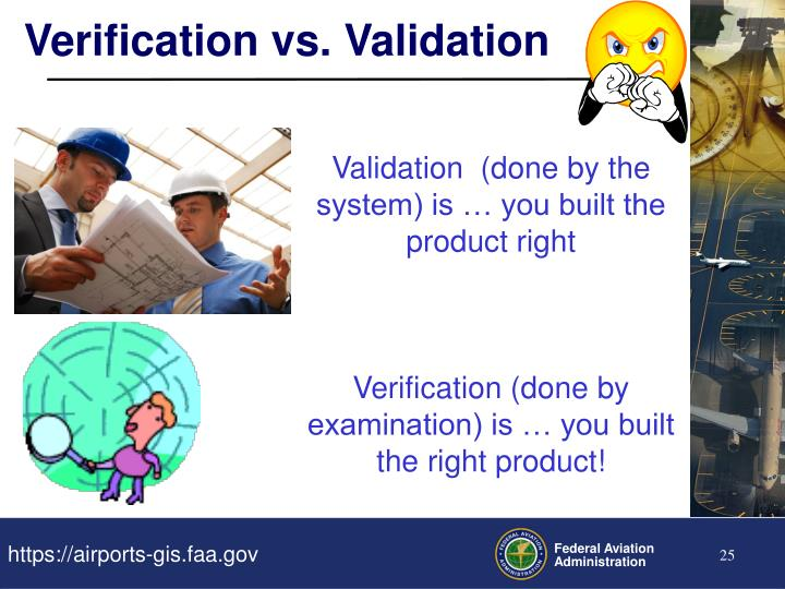 Verification vs. Validation
