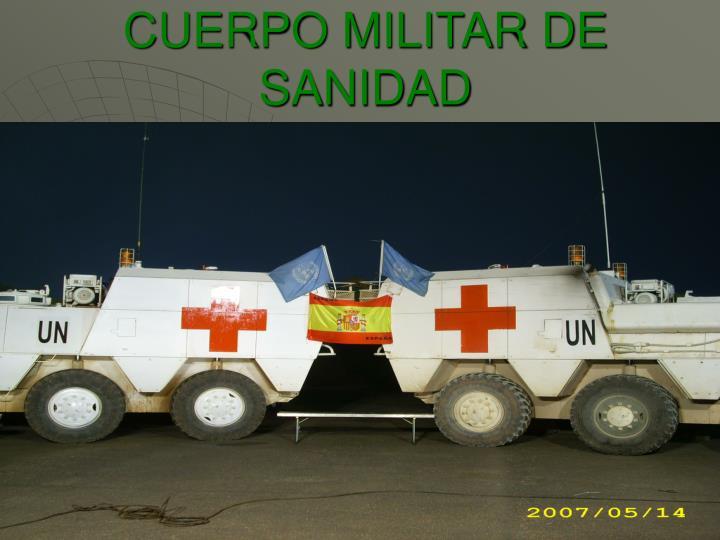 CUERPO MILITAR DE SANIDAD