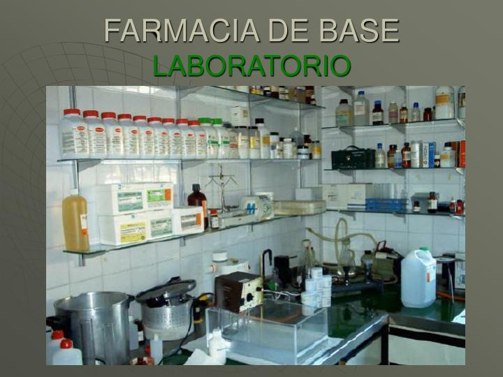 FARMACIA DE BASE