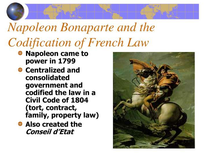 Napoleon Bonaparte and the Codification of French Law