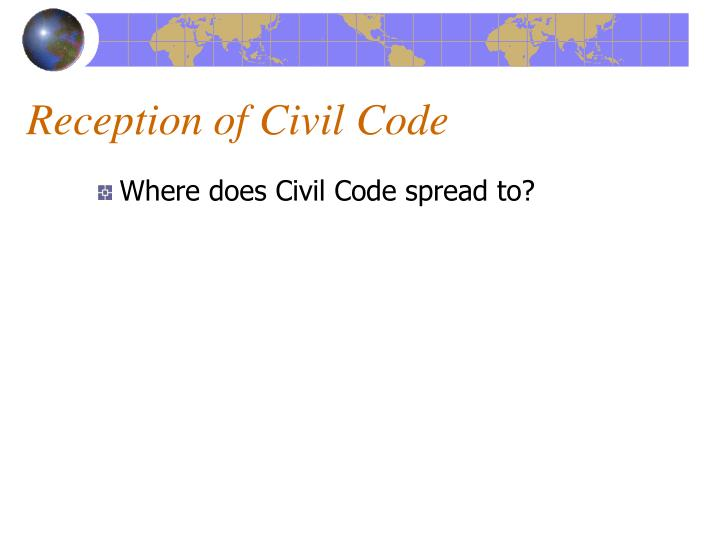 Reception of Civil Code