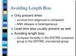 avoiding length bias