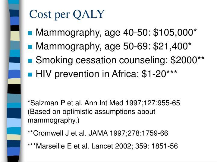 Cost per QALY