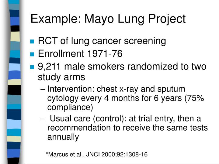 Example: Mayo Lung Project