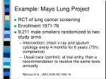 example mayo lung project