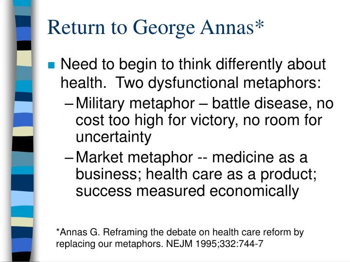 Return to George Annas*