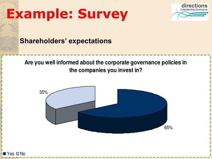 Example: Survey