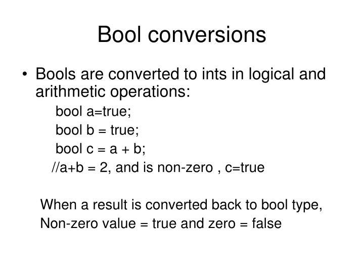 Bool conversions