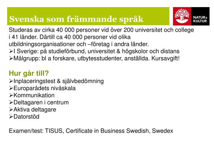 Svenska som främmande språk