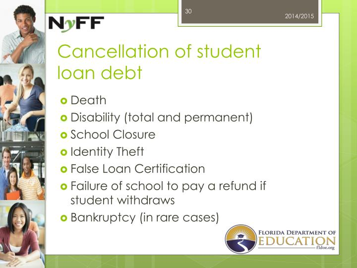 Cancellation of student loan debt