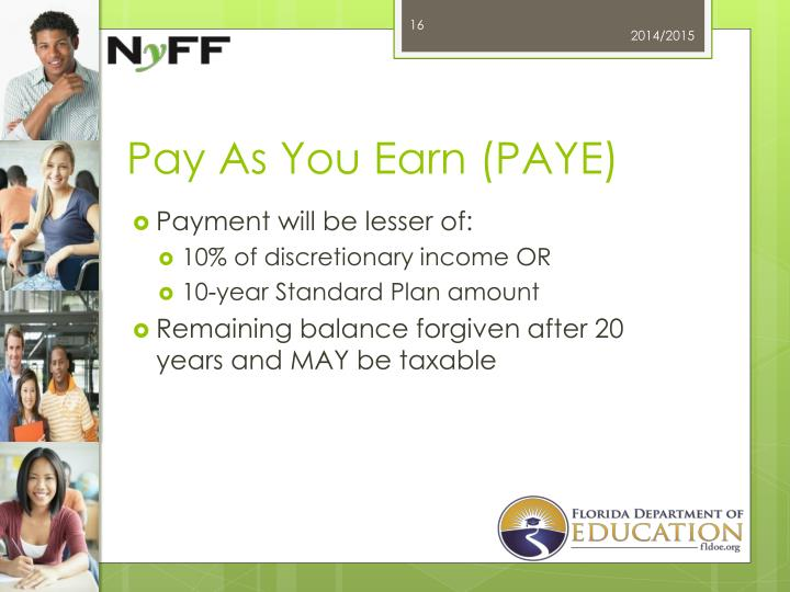 Pay As You Earn (PAYE)