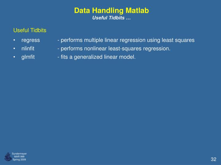 Data Handling Matlab