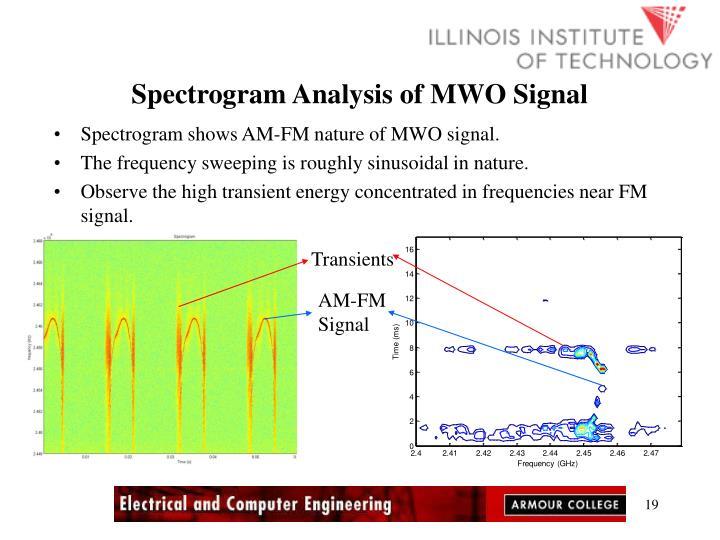 Spectrogram Analysis of MWO Signal