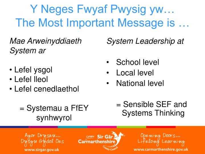 System Leadership at