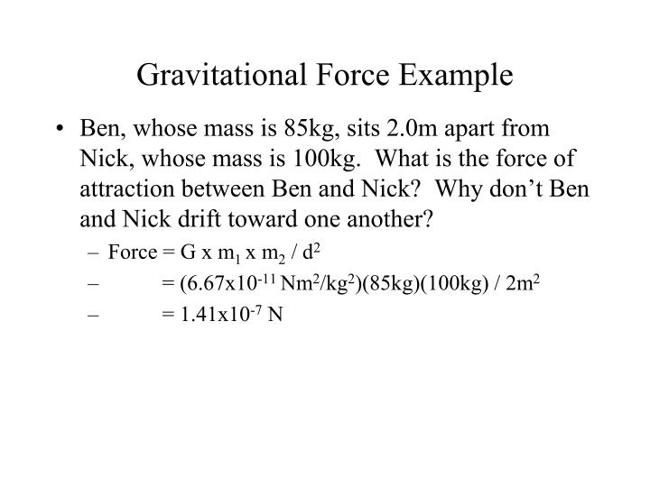 Gravitational Force Example