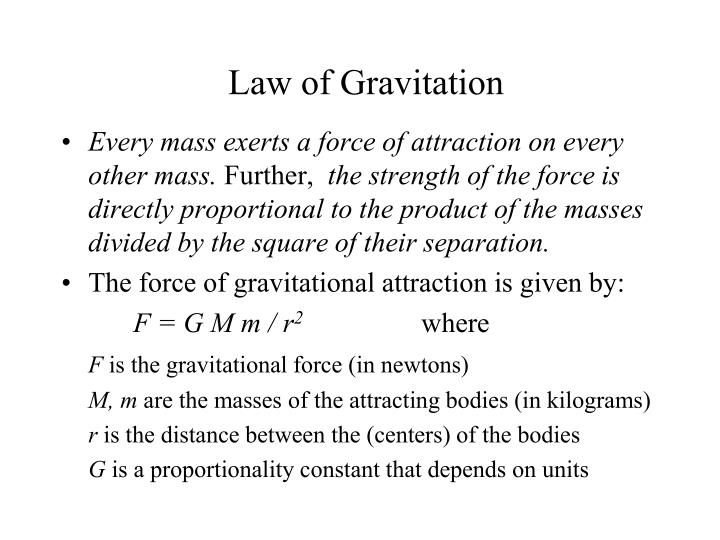 Law of Gravitation