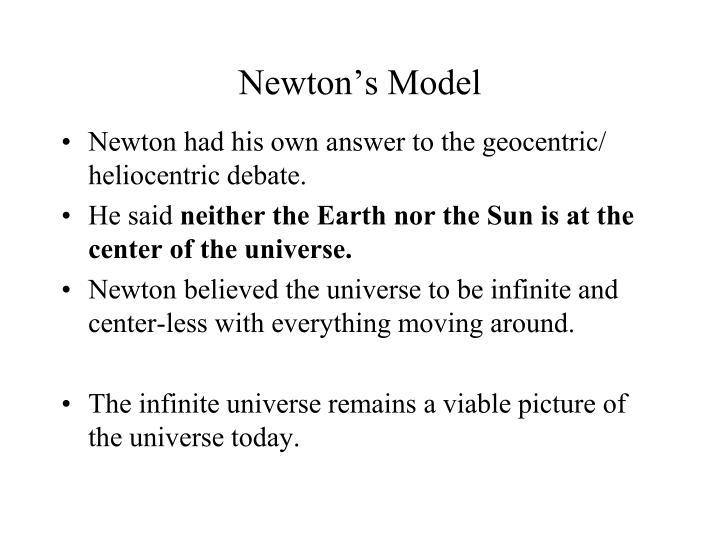 Newton's Model