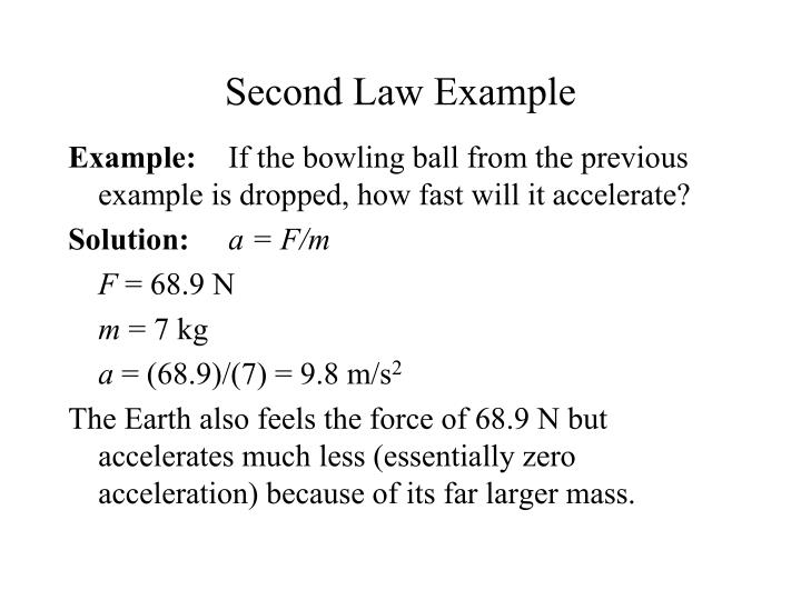 Second Law Example