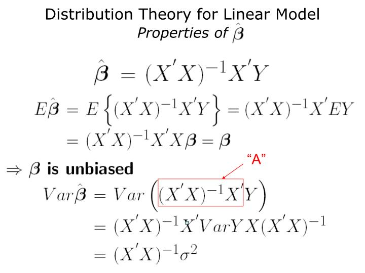 Distribution Theory for Linear Model