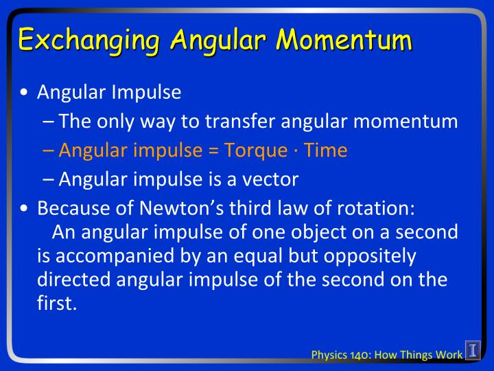 Exchanging Angular Momentum