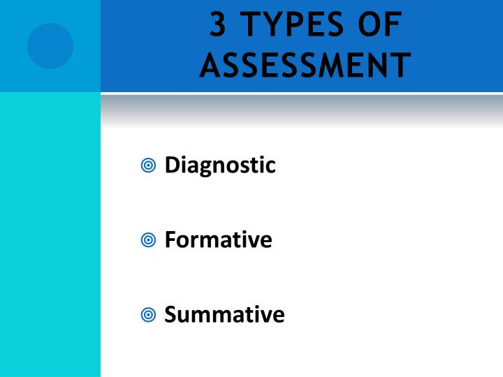 3 TYPES OF ASSESSMENT