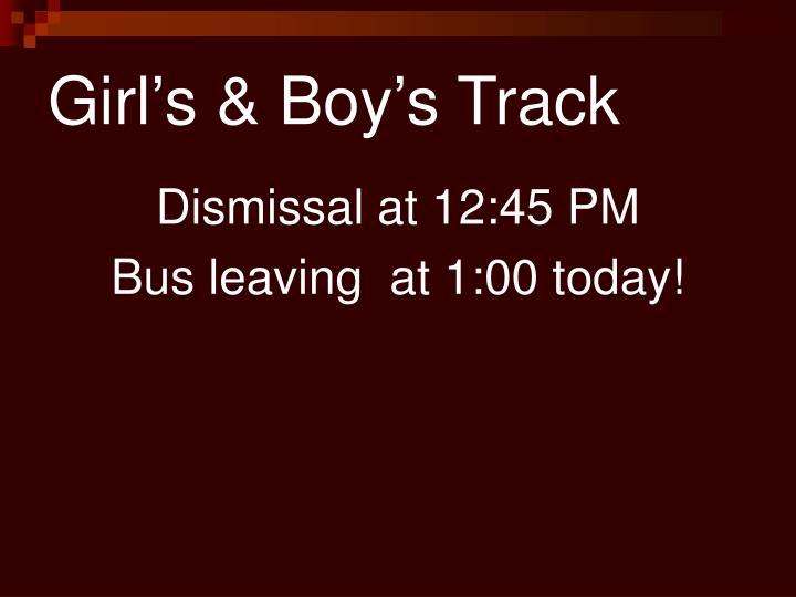 Girl's & Boy's Track