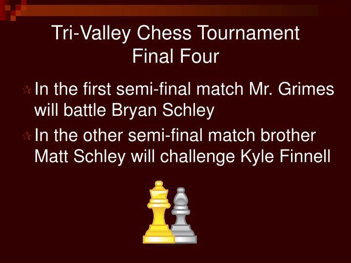 Tri-Valley Chess Tournament