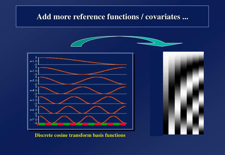 Add more reference functions / covariates ...
