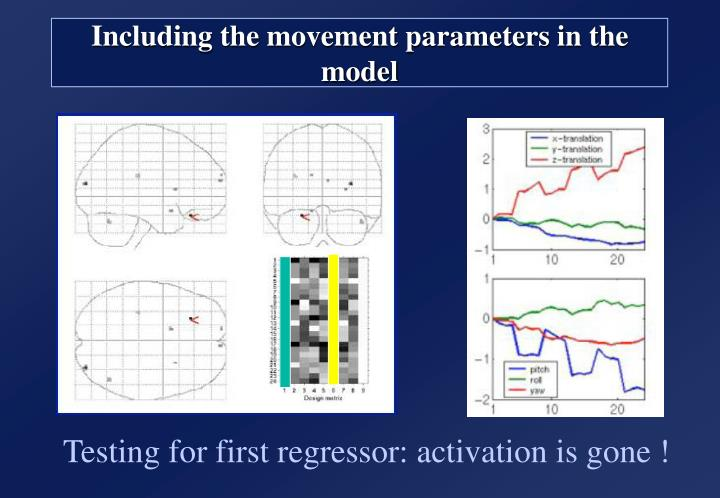 Including the movement parameters in the model