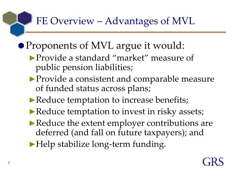FE Overview – Advantages of MVL