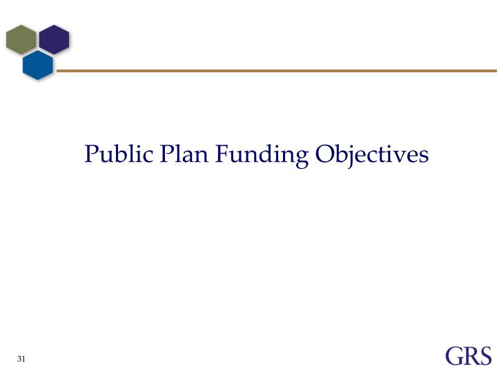 Public Plan Funding Objectives