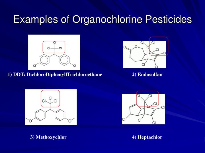 Examples of Organochlorine Pesticides