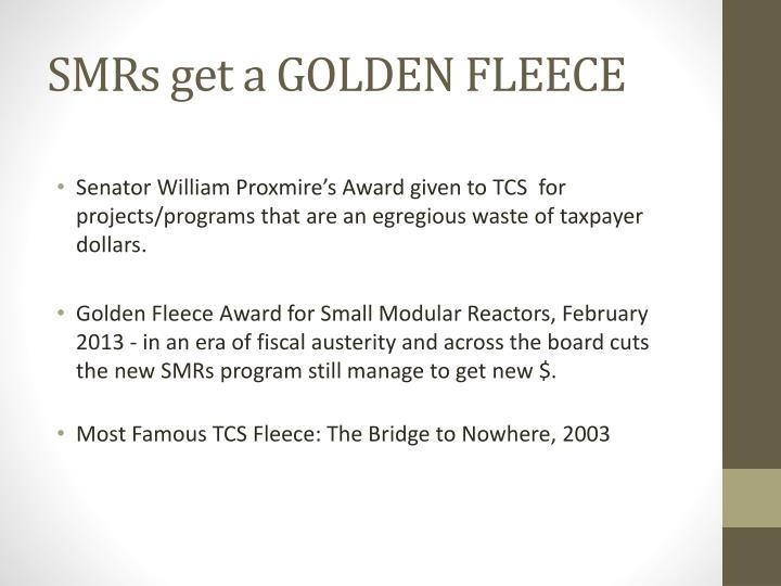 SMRs get a GOLDEN FLEECE