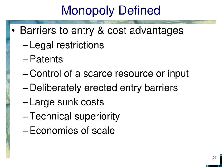 Monopoly defined1