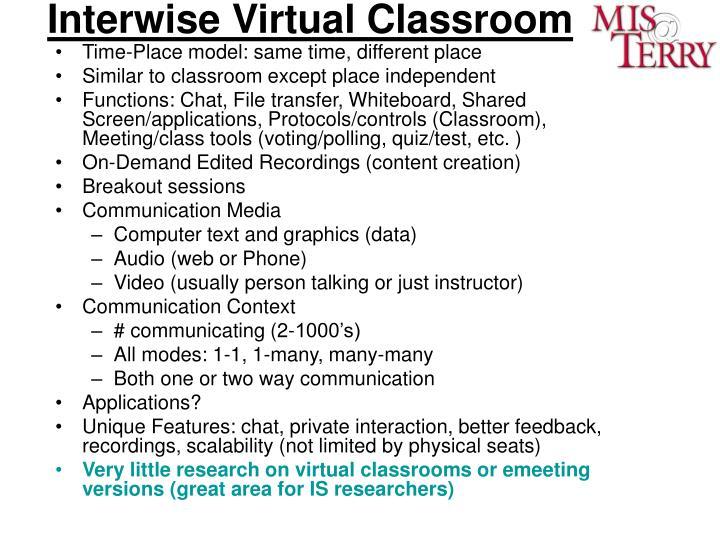 Interwise Virtual Classroom