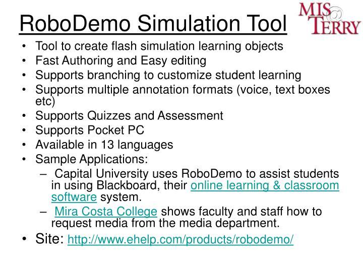 RoboDemo Simulation Tool