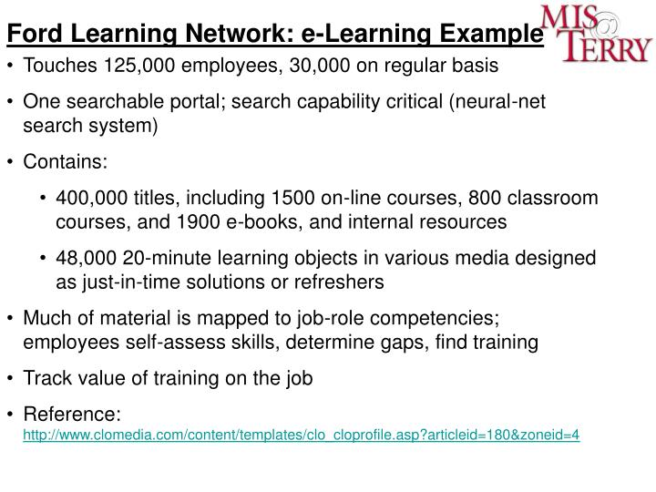 Ford Learning Network: e-Learning Example