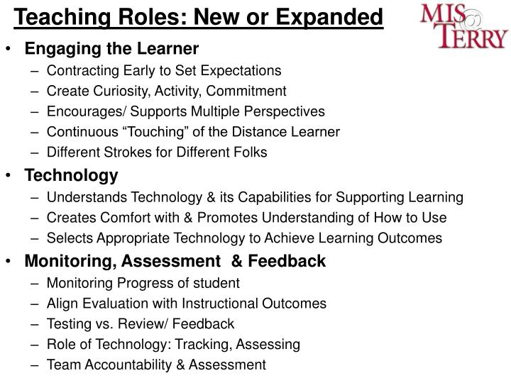 Teaching Roles: New or Expanded