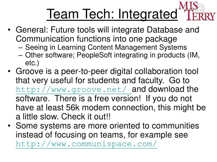 Team Tech: Integrated