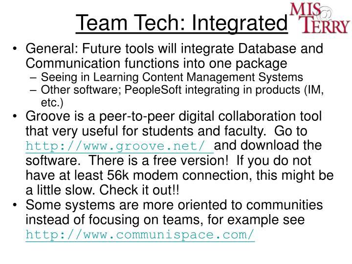 Team Tech: Integrated