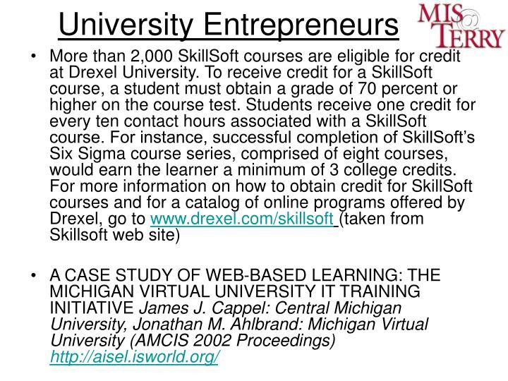 University Entrepreneurs