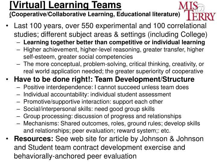 [Virtual] Learning Teams