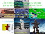 3c indiquer infrastructures mises en place par les autochtone sur le territoire l tude