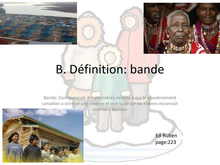 B. Définition: bande