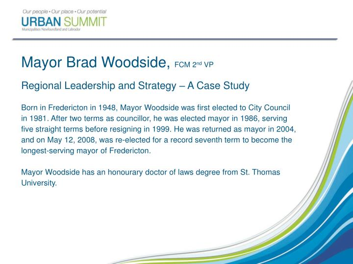Mayor Brad Woodside,