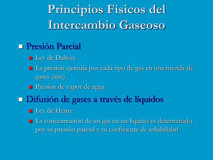 Principios Físicos del Intercambio Gaseoso