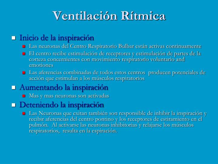 Ventilación Rítmica