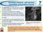 auxiliary sensor ph sensor nanofiber polyaniline based