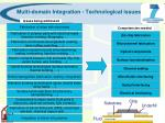 multi domain integration technological issues